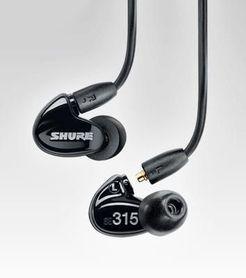 SHURE SE315-K - słuchawki douszne