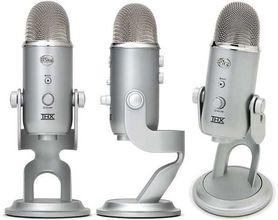 Blue Yeti mikrofon pojemnościowy USB, wyjście słuchawkowe