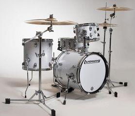Zestaw perkusyjny z pokrowcami Ludwig Breakbeats Shell Pack LC179X028 White Sparkle