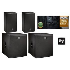 Electro Voice 2x ELX-115P 2x ELX118P zestaw nagłośnieniowy
