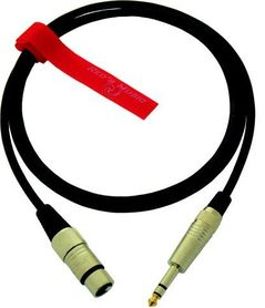 Kabel mikrofonowy RED'S MUSIC XLR F 3P-jack stereo 6.3mm 5.0m