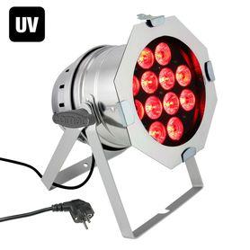 CAMEO PAR 64 CAN RGBWA UV 10 WPS – LED PAR 12 X 10 W 6-IN-1 RGBAW UV W POLEROWANEJ OBUDOWIE