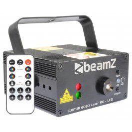 Laser Surtur z Gobo, LED i pilotem BeamZ