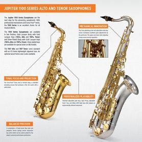 Jupiter JAS1100Q alto saxophone in Eb