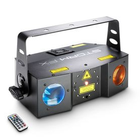 Cameo Light STORM FX - 3-in-1 lighting effect with Grating Laser, Strobe and Derby Effect incl. IR-Remote efekt dyskotekowy LED