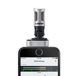 Cyfrowy stereofoniczny mikrofon MOTIV MV88 Shure