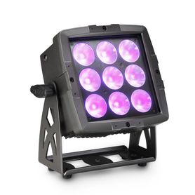 CAMEO FLAT PRO FLOOD 600 IP65 – PAR DO UŻYTKU ZEWNĘTRZNEGO 6 W 1 Z DIODAMI LED, 9 X 12 W, RGBWA+UV