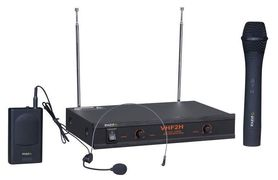2-kanałowy bezprzewodowy system mikrofonowy VHF 2H