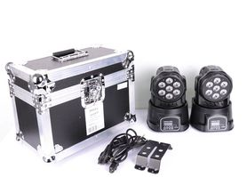 Ruchoma głowa x2 + Case Ibiza LMH350LED-2FC