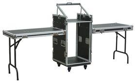 Duży Rack Case z podwójnym stołem 16U + 10U