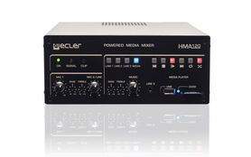 ECLER HMA 120 - Powermixer na linię 100V z wbudowanym playerem audio