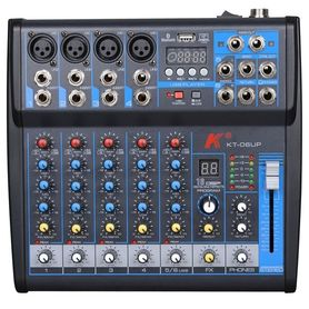 Karsect KT-06UP mikser analogowy z procesorem efektów, interfejsem USB i odtwarzaczem MP3/Bluetooth