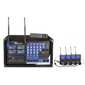 (MIK0125) Mikrofon PA-180 UHF 4 kanały (4 mikrofony nagłowne)
