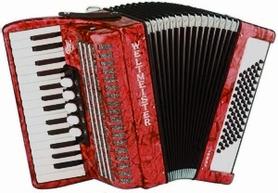 Weltmeister Juwel 30/72/III/5 akordeon czerwony