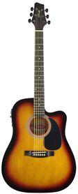 Stagg SW 203 CETU SB - gitara elektro-akustyczna