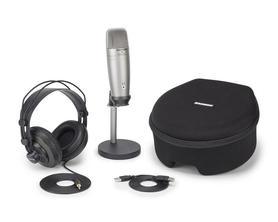 Samson C01U Pro Pakiet Podcasting - USB Studio mikrofon pojemnościowy z akcesoriami