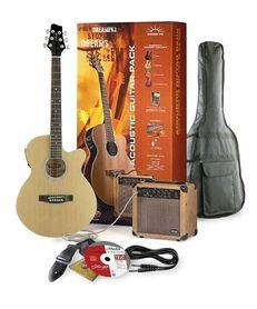 Stagg SW 206 N P3 - gitara elektro-akustyczna z wyposażeniem