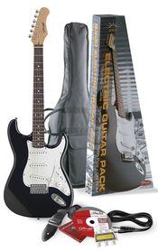 Stagg S 300 BK Pack 2 - gitara elektryczna z wyposażeniem