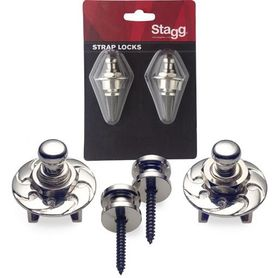 Stagg SSL 1 CR - straplocki z blokadą