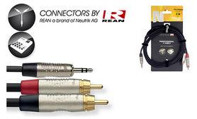 Stagg NYC6/MPS2CM R - kabel instrumentalny 6m