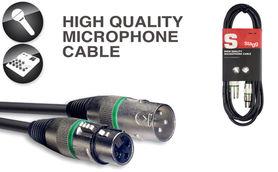 Stagg SMC10 XX GR– kabel mikrofonowy 10 m z oznaczeniem końcówek