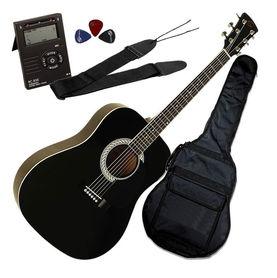 Soundsation AGPKG100BK Pack - gitara akustyczna plus zestaw akcesoriów