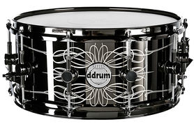 Ddrum Tattooed Lady 6.5x14 BLK - werbel metalowy