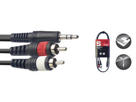 Stagg SYC1/MPS2CM E - kabel instrumentalny 1m