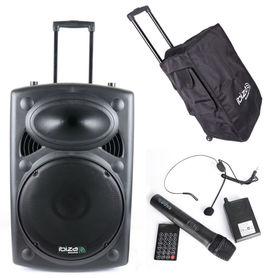 Kolumna mobilna Ibiza PORT15UHF-BT RADIO + POKROWIEC