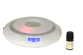 Elektroniczny dyfuzor do olejków z radiem zegarkiem oraz alarmem PI680H