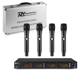 Zestaw mikrofonów bezprzedowodowych Power Dynamics PD504H