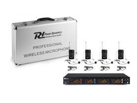 Zestaw mikrofonów bezprzewodowych UHF 4x bodypack PD504B