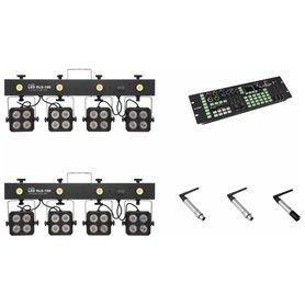EUROLITE Zestaw oświetleniowy 2x KLS-180 + Color Chief + QuickDMX nadajnik + 2x odbiornik