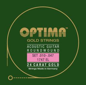 OPTIMA GITARA AKUSTYCZNA STRUNY GOLD STRINGS