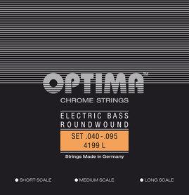 OPTIMA STRUNY DO BASU CHROME STRINGS ROUND WOUND