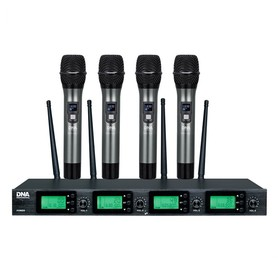 DNA RV-4 zestaw bezprzewodowy 4 mikrofony doręczne
