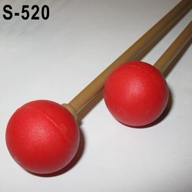 Pałki metalofonu ksylofonu główka guma czerwona S-520 Samba