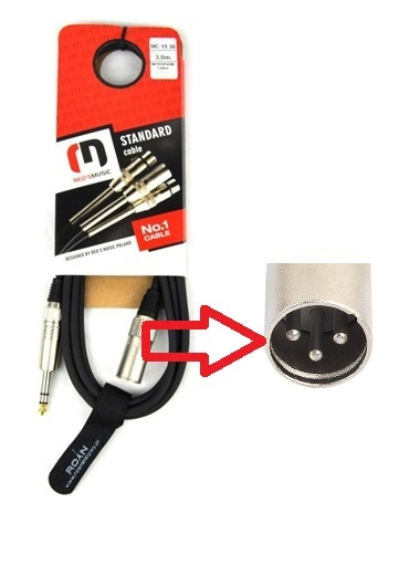 Kabel Mikrofonowy red's music 9m (1)